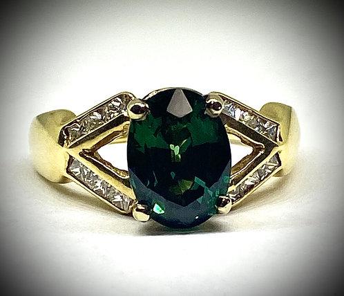 Created Green Sapphire