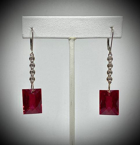 Red Topaz & Diamonds