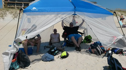 At the beach w Pastor Ede