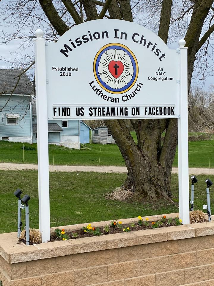 Mission in Christ church sign