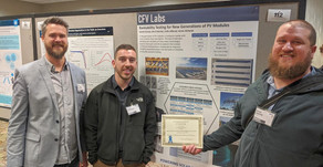 CFV Labs Wins First Prize Poster Award at NREL PVRW