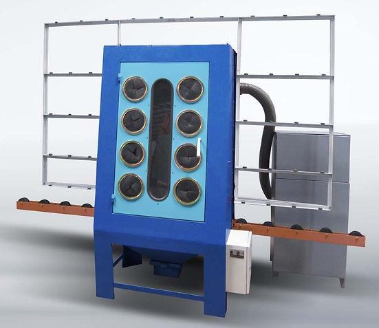 Horizontal sandblasting machine,glass sandblasting equipment,glass sand equipment
