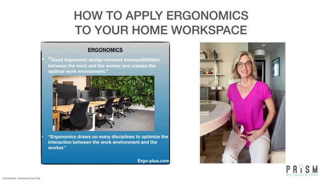 Applying Ergonomics to your Home work space