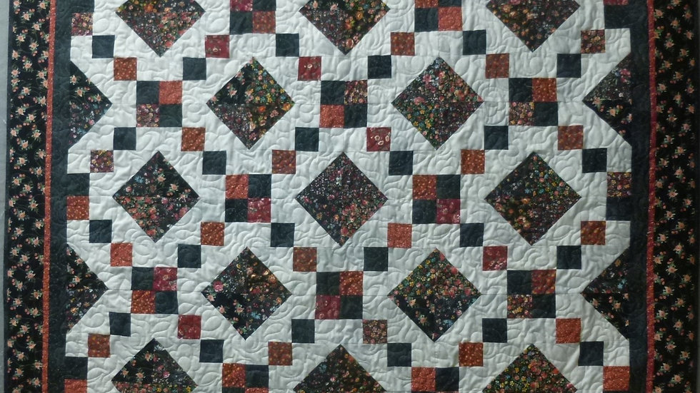 Red and Black Checkerboard Quilt