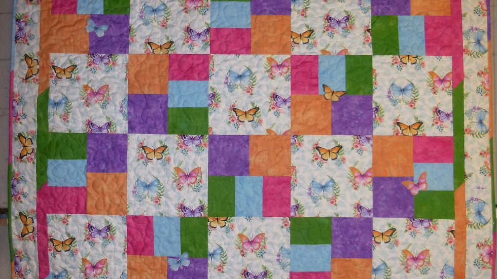 Butterfly Large throw Quilt