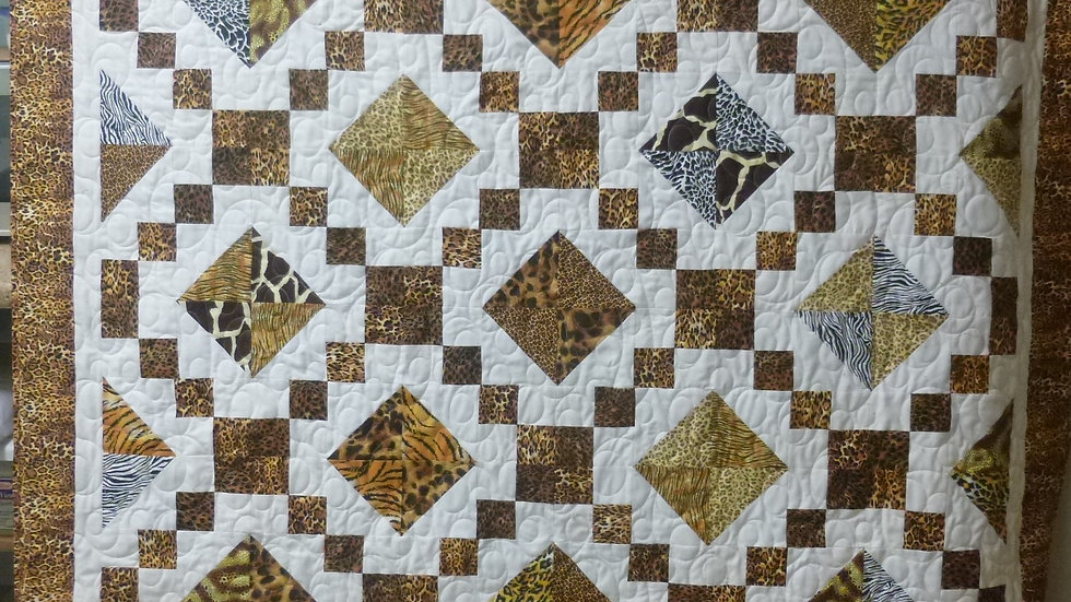 Extra Large Animal Skin Fabric Throw Quilt