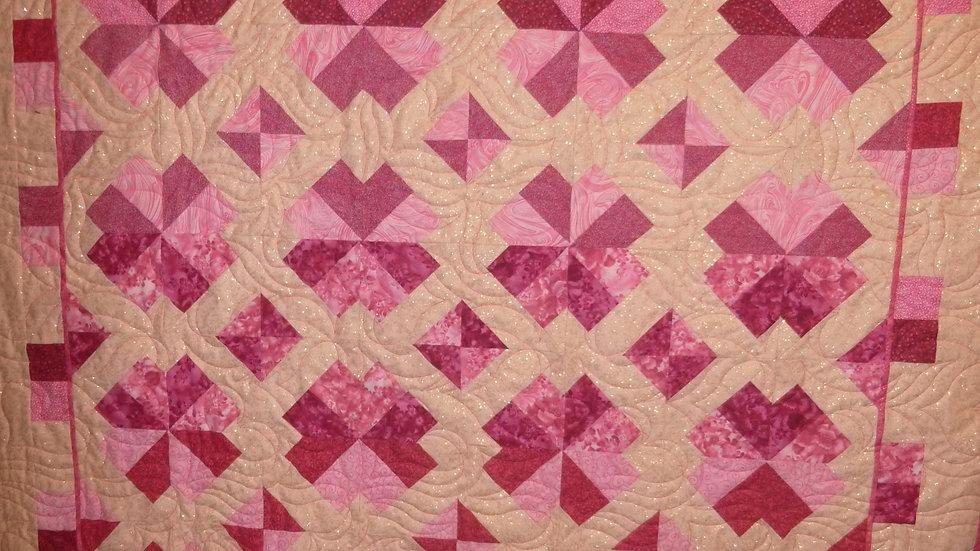 Pinkk Glitter Throw Quilt