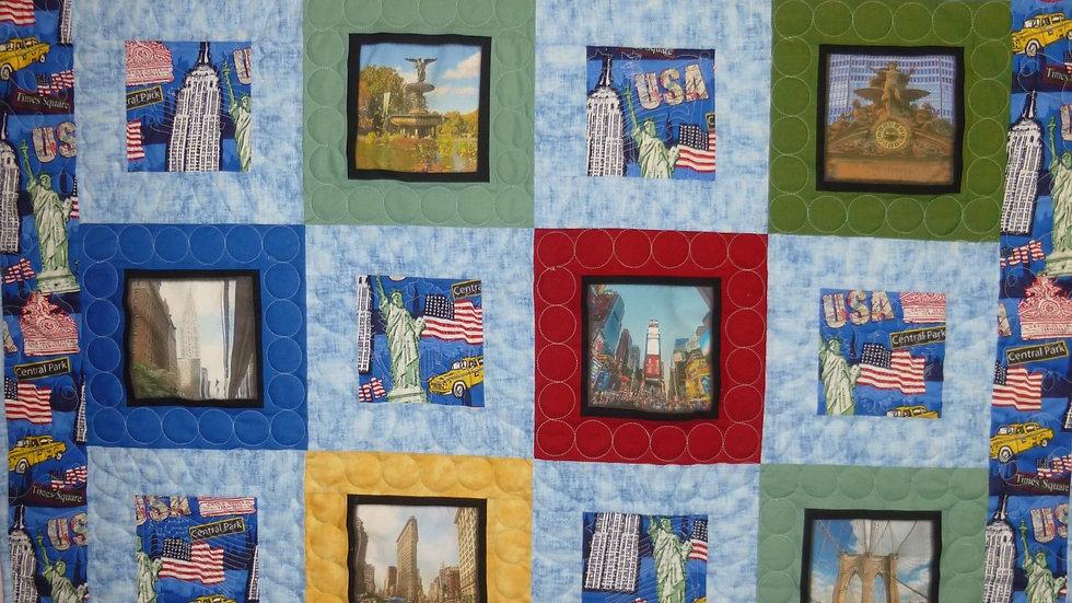 New York City Photo Patriotic Quilt