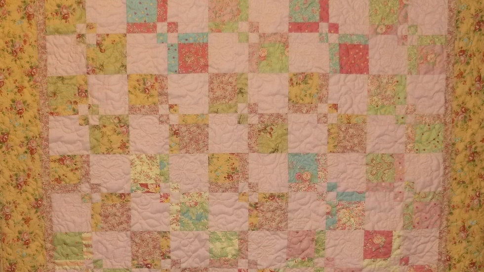 Double Four Patch Large Throw Quilt