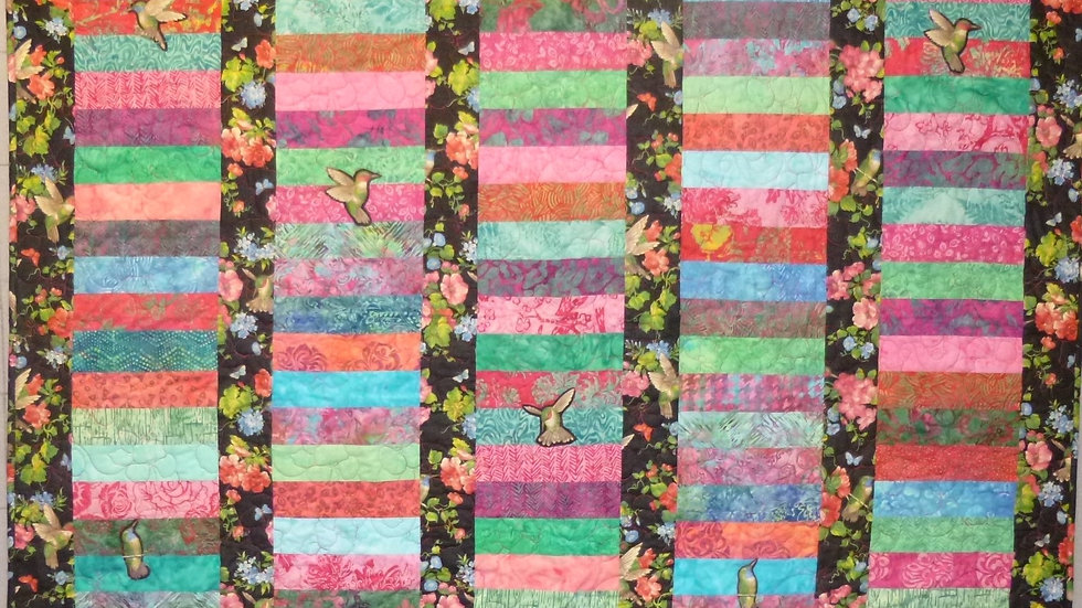Hummingbird Large Batik Bar Quilt 1