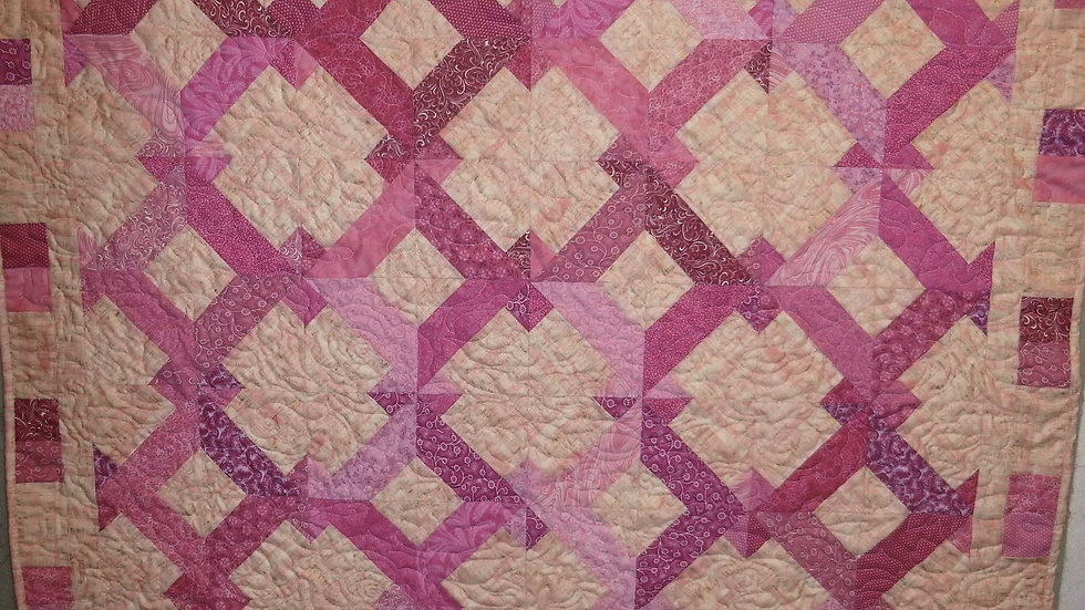 50 Shades of Pink Throw Quilt