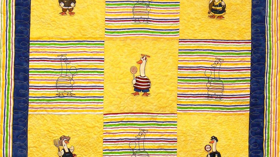 Goosey Gander Flannel Quilt for Little Boys
