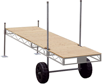 Porta-Dock Galvanized Steel Roll-In Dock System with Cedar Decking