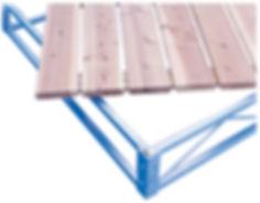 Porta-Dock Galvanized Steel Roll-In Dock System with Cedar Decking