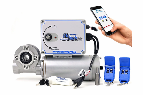 AC DIRECT DRIVE BOAT LIFT MOTOR - WIRELESS REMOTES & BLUETOOTH