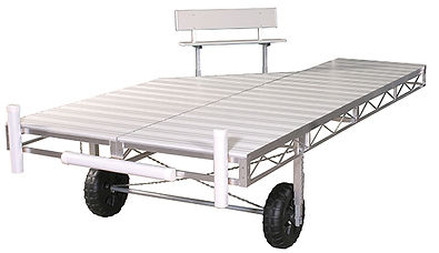 Porta-Dock Aluminum Roll-In Dock System with White Aluminum Decking