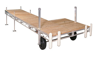 Porta-Dock Aluminum Roll-In Dock System with Cedar Decking