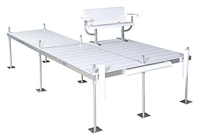 Porta-Dock Post Sectional Aluminum Dock System with White Aluminum Decking
