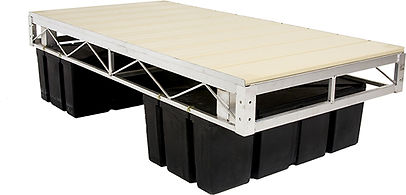 Porta-Dock Floating Dock System with Beige Aluminum Decking