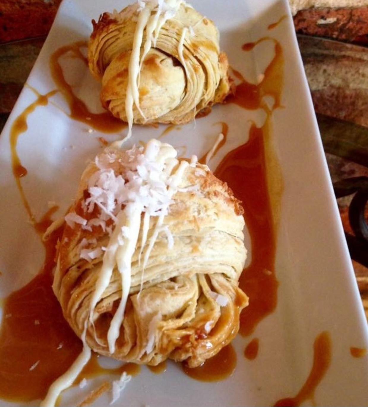 Dulce de Leche Caramel & Coconut Croissa