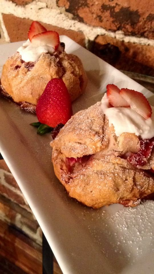 Strawberry & Cream Croissant