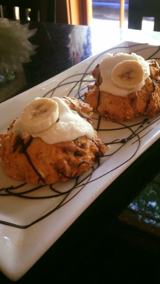 Dark Chocolate Banana Scones