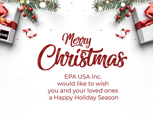 EPA USA Inc wishes you a Merry Christmas