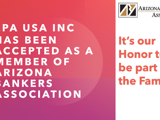 EPA USA Inc has been accepted as a Member of Arizona Bankers Association