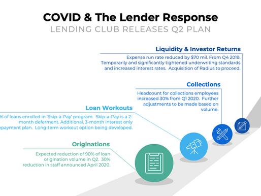 COVID19 & The Lender Response - Lending Club Releases Q2 Plan