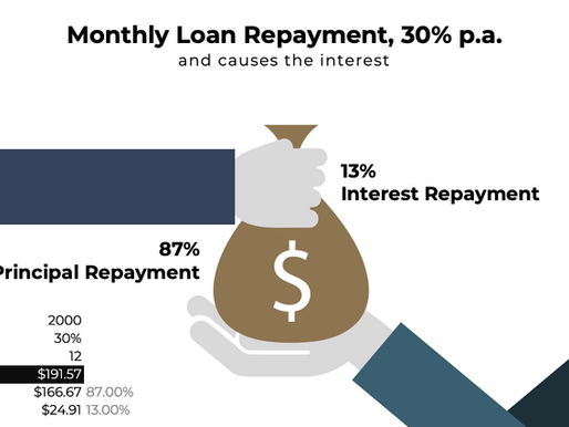 Monthly Loan Repayment, 30% p.a.