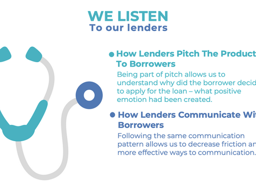 We Listen to Our Lenders