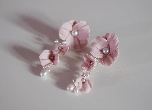Hängeohrringe Blüte Modeliert