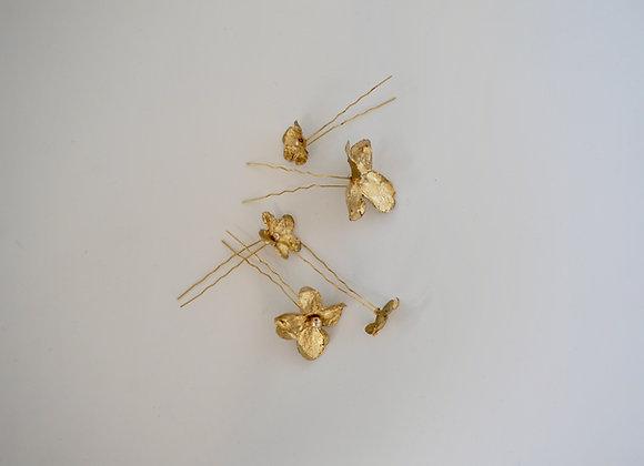 Haarnadeln Seidenblüten Set
