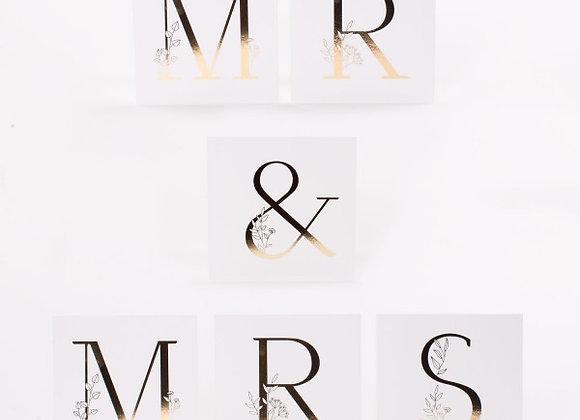 Mr & Mrs Kartenset