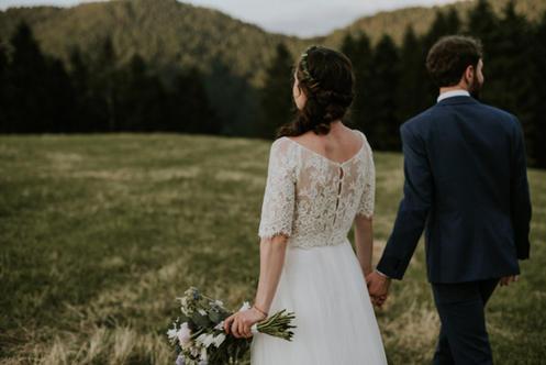 Oberteil Braut auf Maß Sandra NymphiusBilder von Hochzeiten mit Bräuten die in Sandra Nymphius Brautmode geheiratet haben.