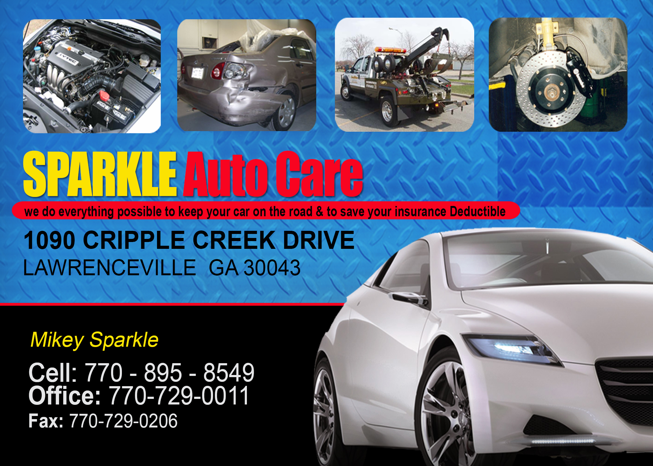 sparkles auto care copy