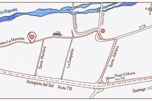 Casona Los Nogales, cómo llegar, camino la manreza, mtrimonios