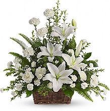 0002019_540 PeaceFull White Lilies Baske