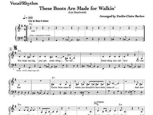 These Boots Are Made For Walkin' / Ces Bottes... - Arrangement