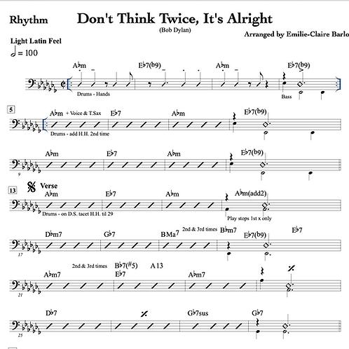 Don't Think Twice, It's Alright -Arrangement