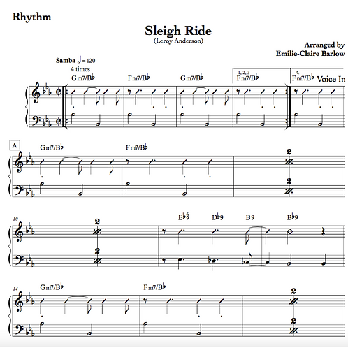 Sleigh Ride - Sheet Music