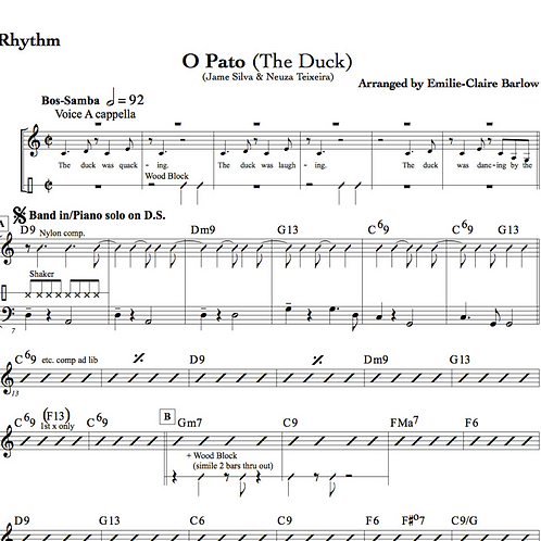 O Pato (The Duck Song) - Arrangement