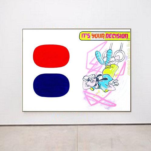 Abstract vs Figurative (Ellsworth Kelly meets Goofy) 130/170 cm