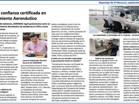 Reportaje El Mercurio, Septiembre 2019.