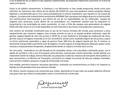 COMUNICADO DE PRENSA PANDEMIA COVID-19