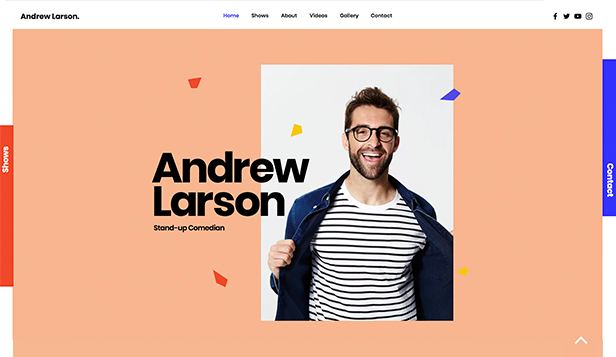 Underholdning website templates – Stand-up Comedian