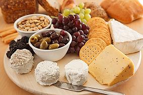 Cheese, olive, cracker tray