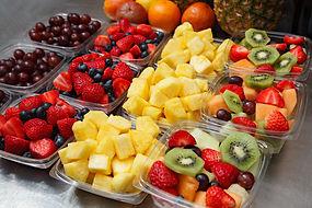 Assorted fruit side salads