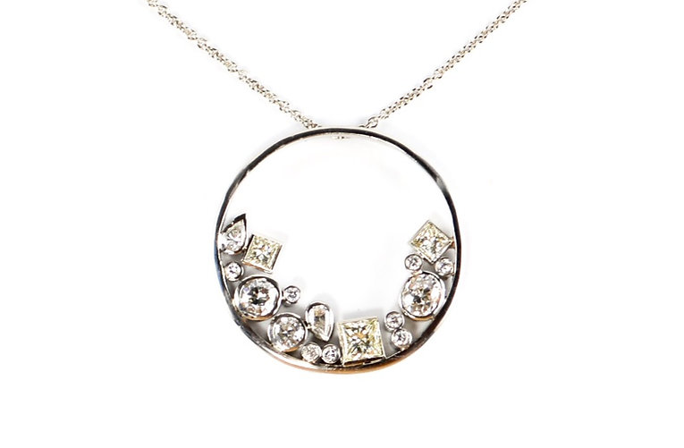 Remodelled diamond scatter necklace   HR Jewellery Designs Hampshire