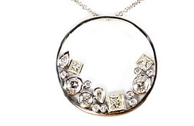 remodelled jewellery into a diamond necklace | HR Jewellery Designs